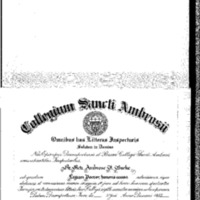 Diploma - Honorary Doctorate from St Ambrose College 1957 - Msg Burke.pdf